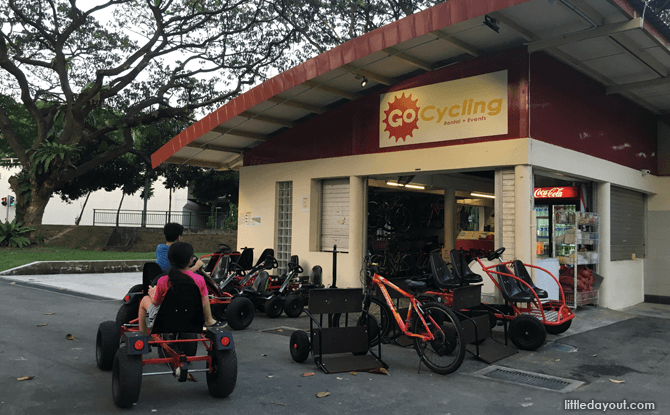 Go-kart kiosk