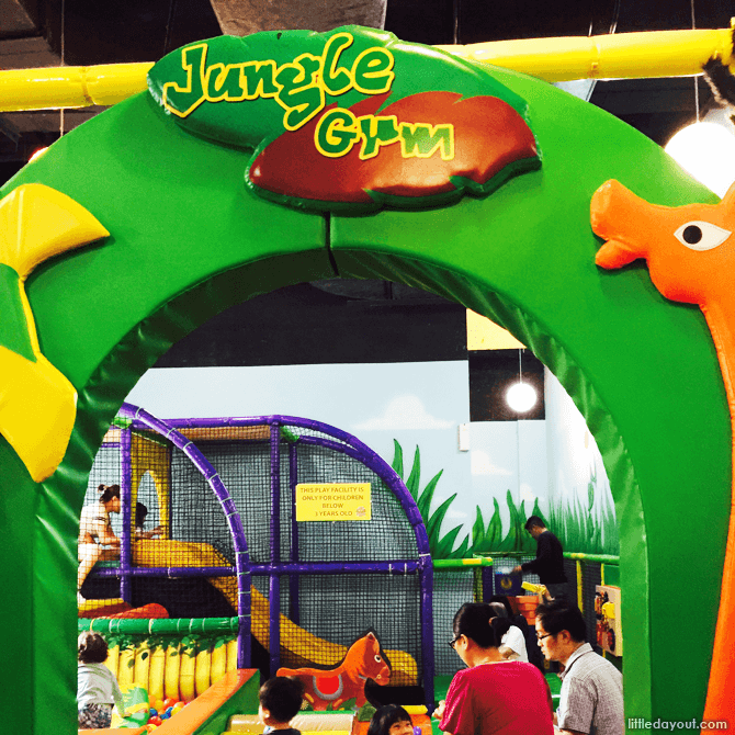 Toddler Play Area, Ball pit at Kungfu Wooden Obstacle at Amazonia Indoor Playground