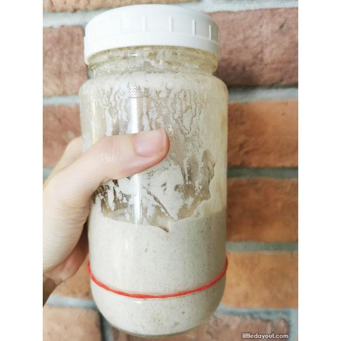 Prepare the levain with the sourdough starter