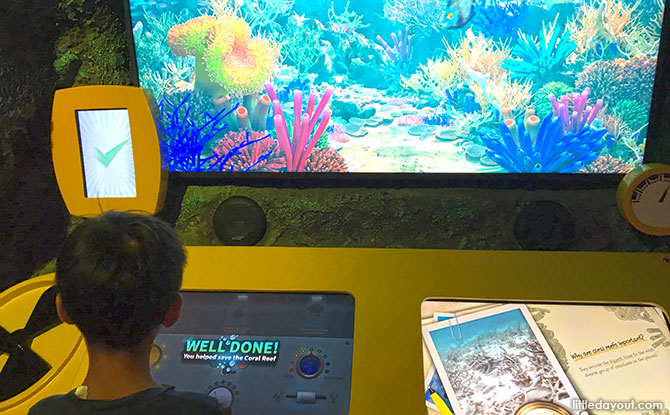 """""""Save the Reef"""" game"""