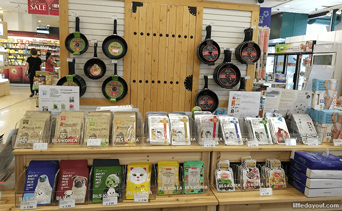 Korean section at Yue Hwa, Chinatown