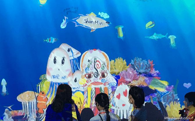 """Feeding the """"Aquarium"""" at ArtScience Museum's Future World"""