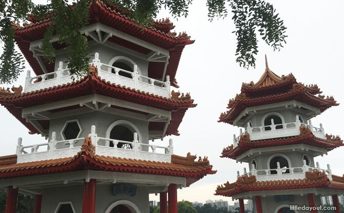 Chinese Garden Twin Pagodas
