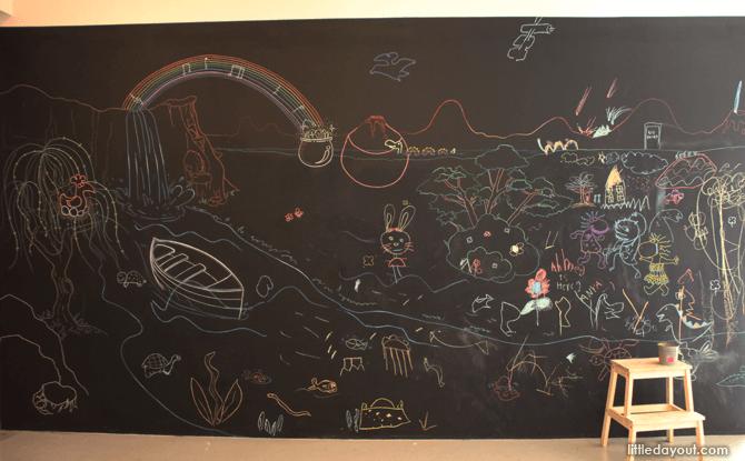 Playeum A World Full of Stories chalk wall