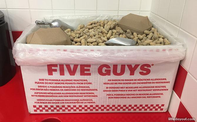 Free peanuts at Five Guys