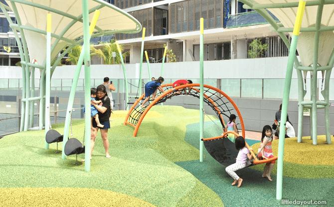 Waterway Point playground hammock