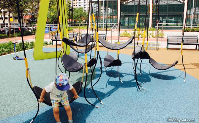 Yishun Green interactive playground hammocks