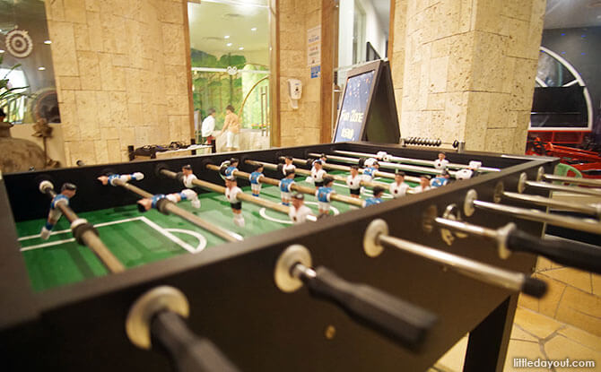 Foosball table at Rasa Sentosa