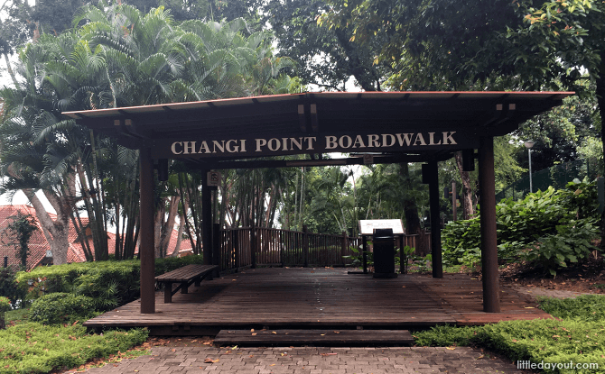 Changi Boardwalk's Entry/Exit Point at Gosport Road