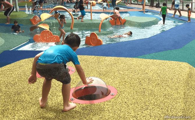 Waterway Point playground bubbletops