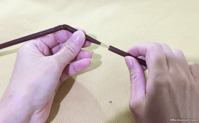 Connecting straws