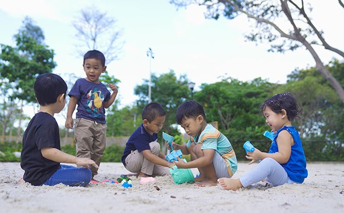 Sand pit at Coastal PlayGrove, East Coast Park