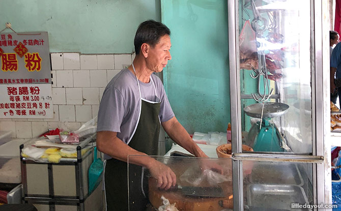 The hawker culture is strong in Ipoh. But you've got to go early for the famous foods, such as the roast pork at Sin Yoon Loong coffee shop, which tends to be sold out before lunchtime.