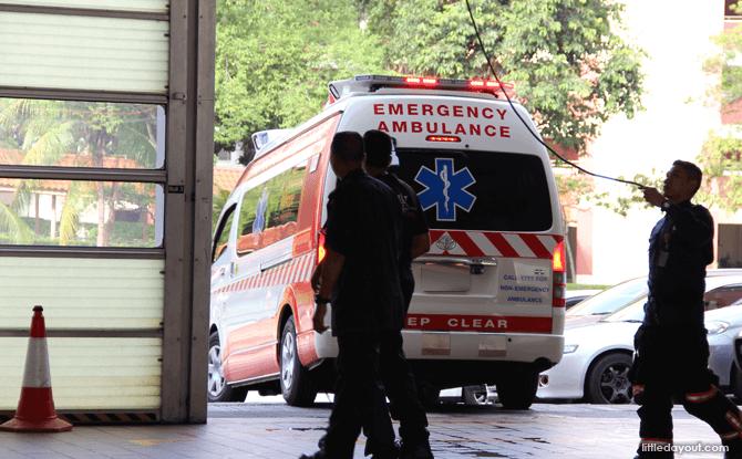 Ambulance leaving