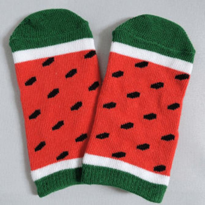 baby socks watermelon