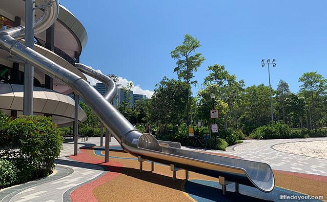 Slides at Coastal PlayGrove