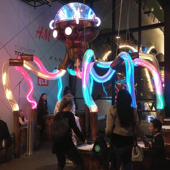 Octopoda, one of the interactive artworks at i Light Marina Bay 2018