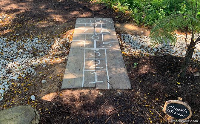 Hopscotch play area