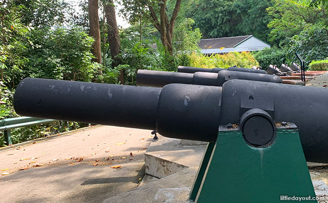 Guns at Fort Siloso