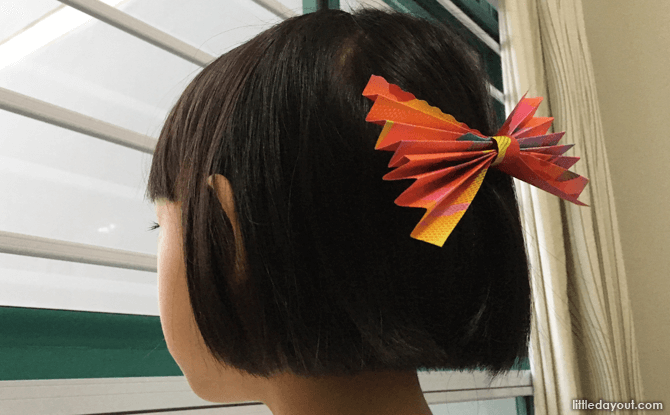 Clip onto the hair to make a festive fashion statement