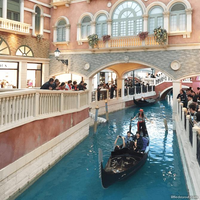 Gondola at The Venetian, Macau.