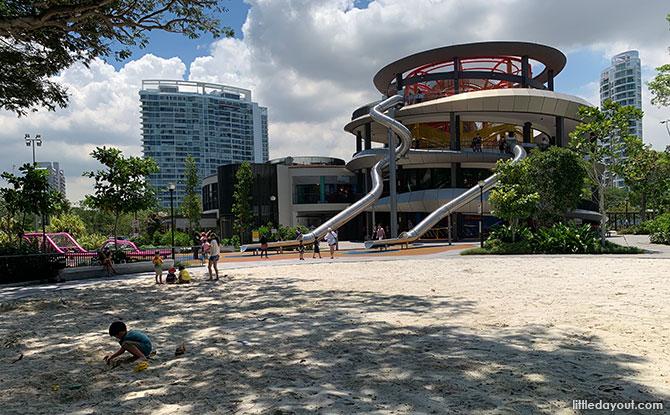 Sand playground at Coastal PlayGrove