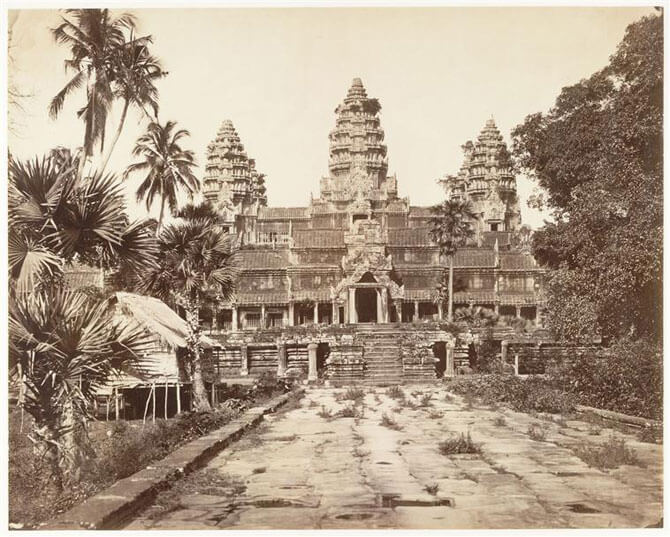 1866 photograph of Angkor Wat by Émile Gsell