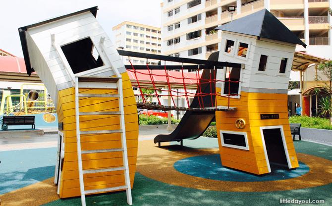 Yishun Green interactive playground crooked houses