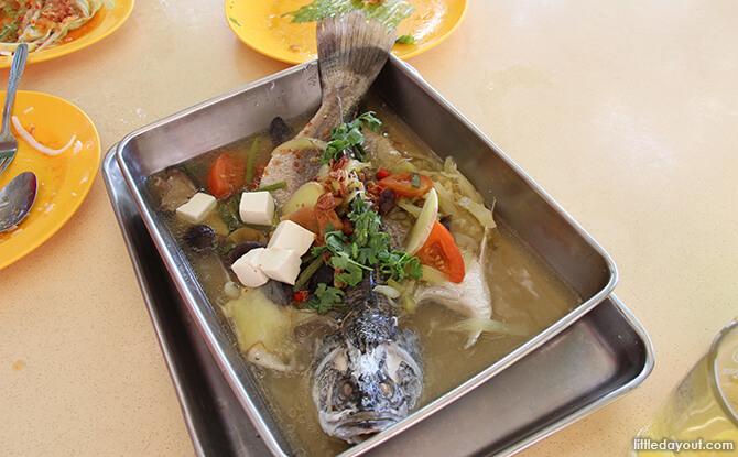 Pulau Ubin Chinese Kampong House: Season Live Seafood's Teochew Style Seabass