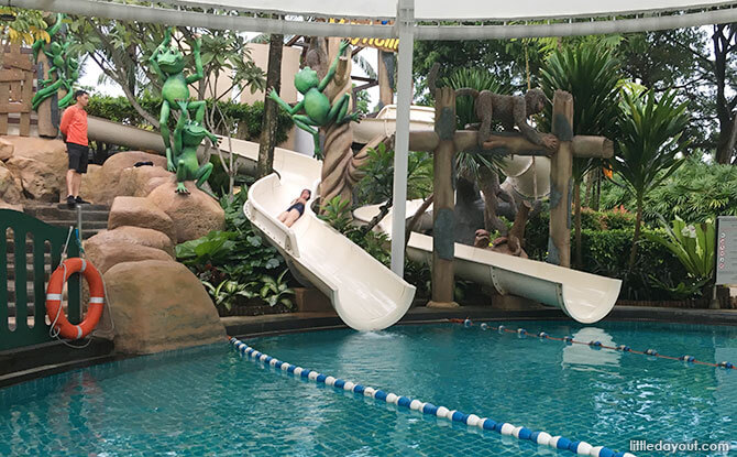 Water slides at Rasa Sentosa Resort