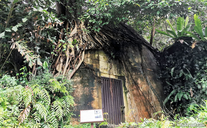 Bunker - Air raid shelter at Jacob Ballas Children's Garden