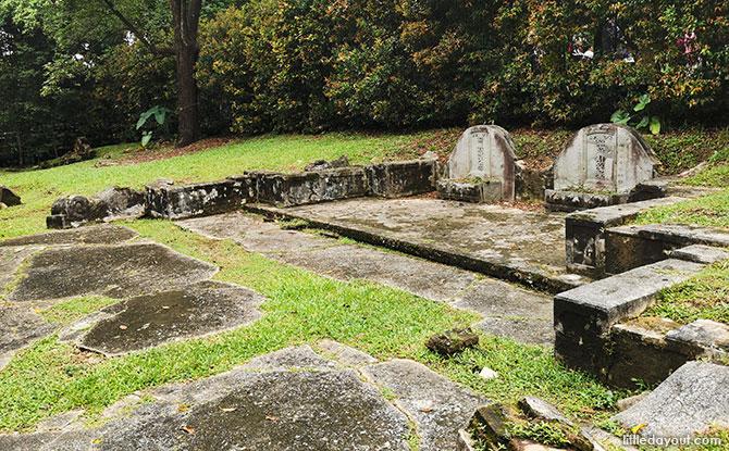 19th century graves at Jacob Ballas Children's Garden