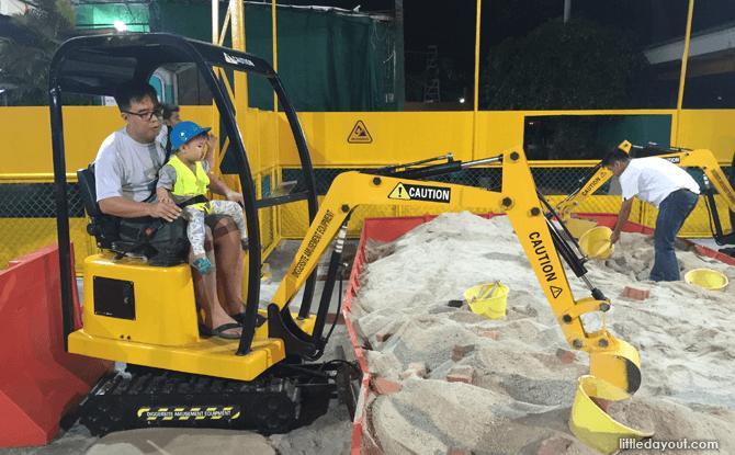 Excavators closer