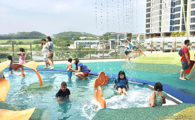 Waterway Point playground lake