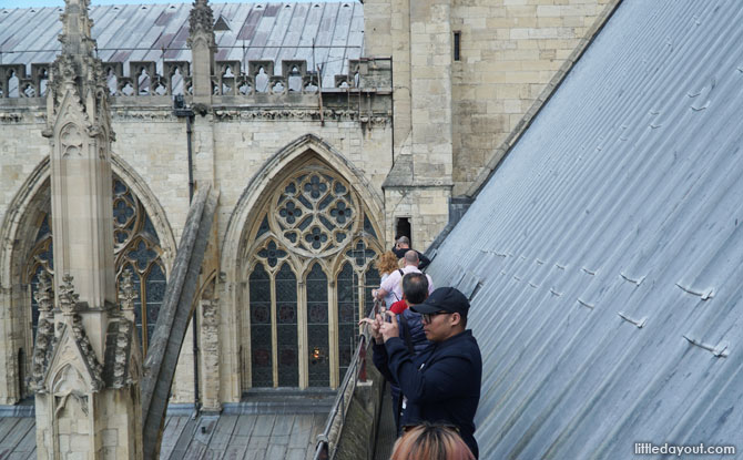 Outdoor passage at the York Minster Tower Climb