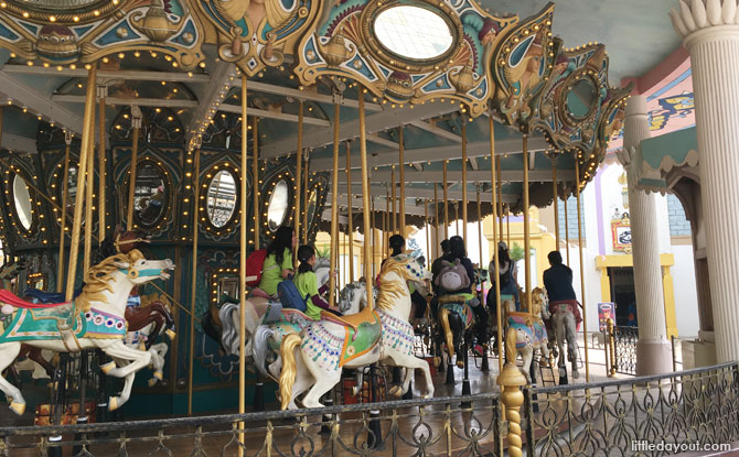 The Arabian-themed carousel