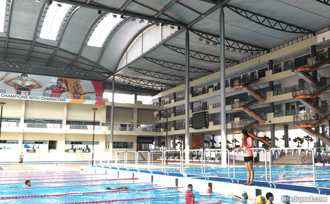 For rain-proof swimming lessons for kids, have your classes at an indoor or sheltered pool.