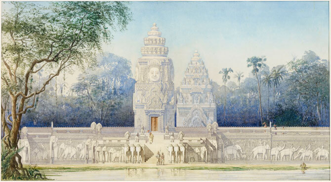 Phimeanakas. Palace of the Khmer kings in the centre of Angkor Thom by Louis Delaporte