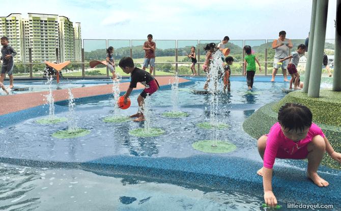 Waterway Point playground fountains