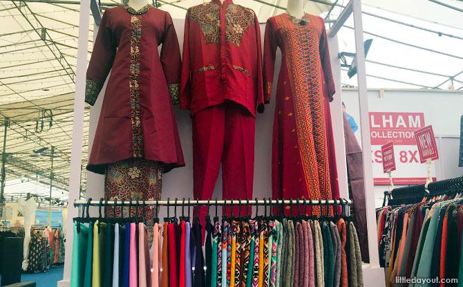 Festive Clothes and Items at the Hari Raya Bazaar