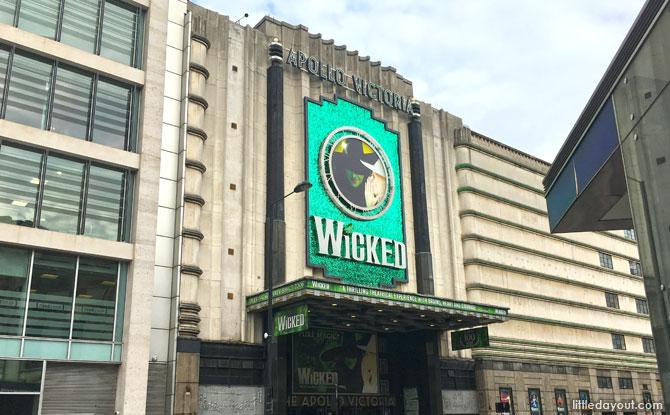 Wicked at Apollo Victoria Theatre, London