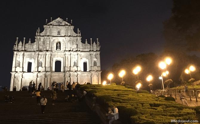 St. Paul's Ruins at Night