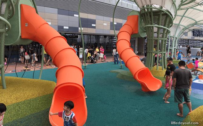 Waterway Point playground long slides