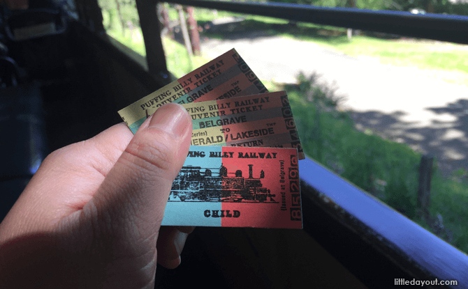 Melbourne Puffing Billy train tickets