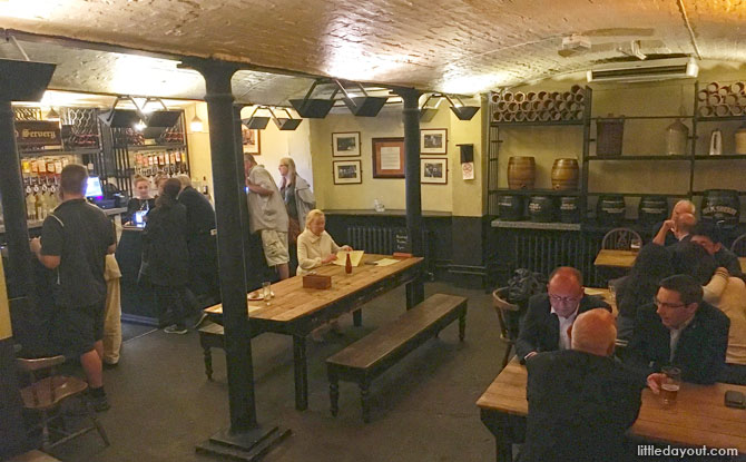 Dining in the cellars of Ye Olde Cheshire Cheese
