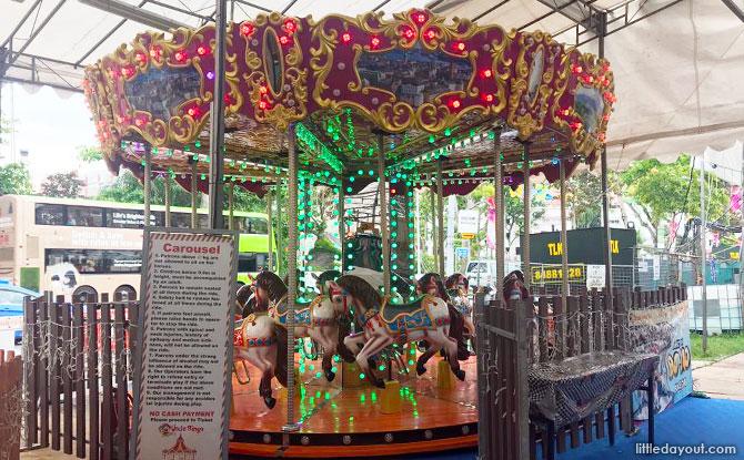 Carnival Rides and Games at the Geylang Hari Raya Bazaar