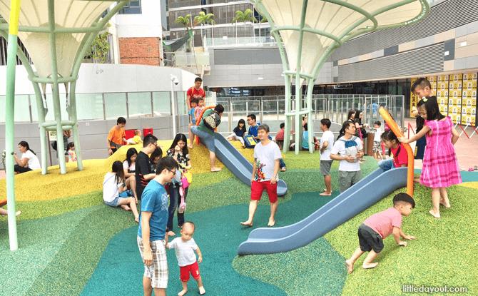 Waterway Point playground short slide