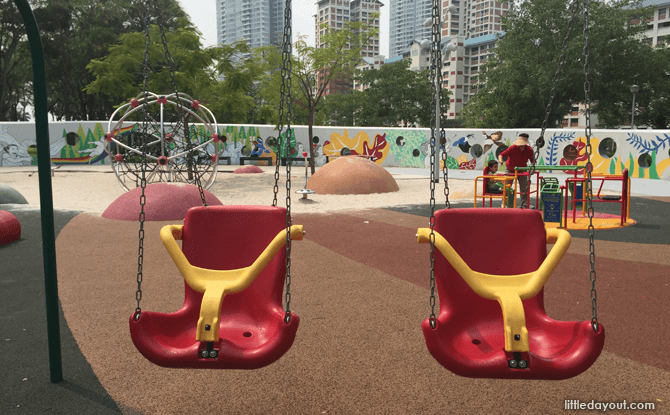 Swings at Inclusive Playgrounds in Singapore