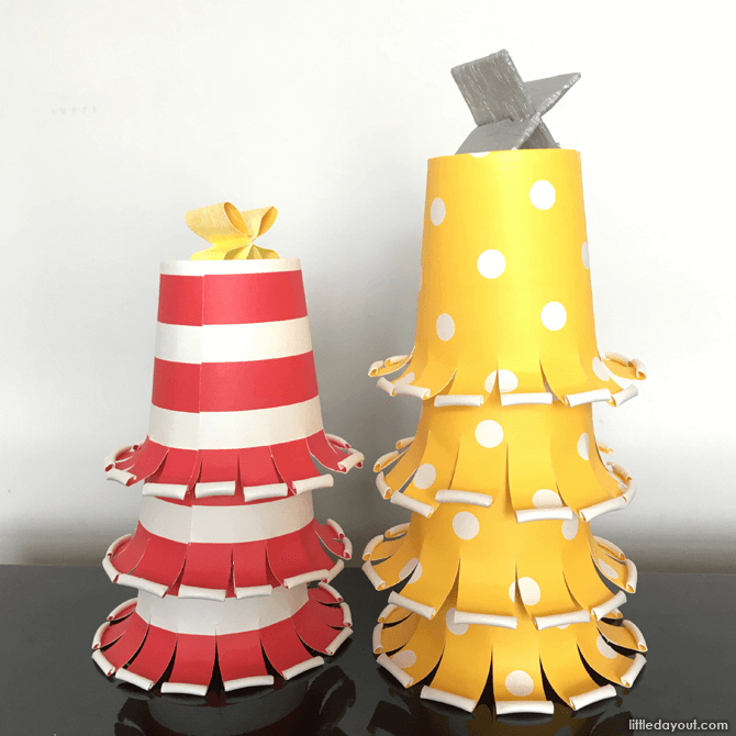 DIY Christmas decor tree stack