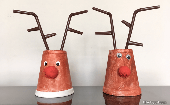 DIY Christmas decor Rudolph cup